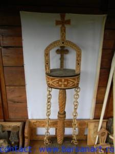 Altar Proscomidie sculptat dintr-un singur lemn