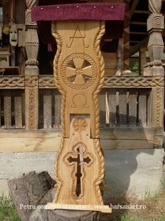 Analog din lemn stejar sculptat
