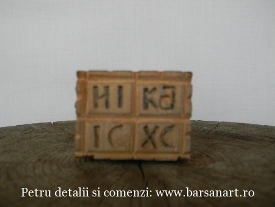 Pecetar sculptat din lemn