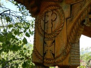 Sculptura in lemn - Detaliu Sf. Cruce