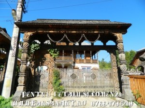 Poarta sculptata din lemn din Barsana