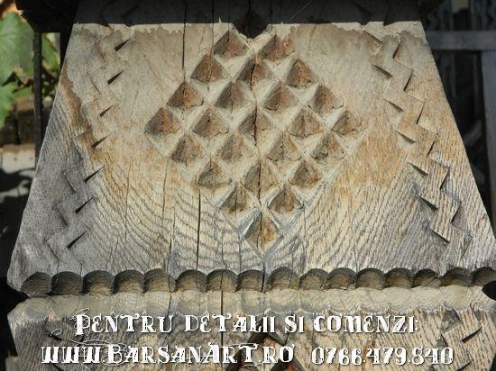 Stalp Poarta Maramureseana - detaliu