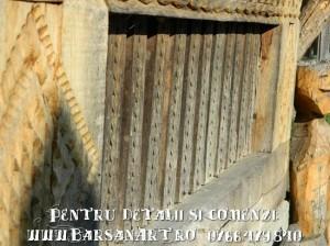 Balustrada sculptata lemn