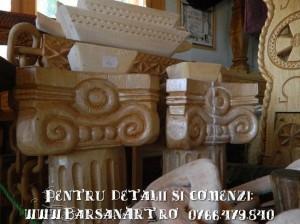 Coloane din lemn