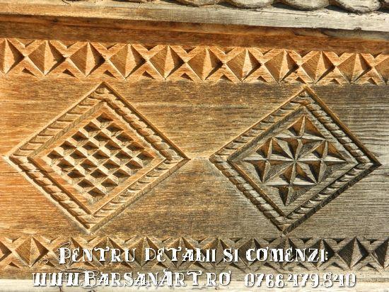 Detaliu sculptura in lemn de stejar