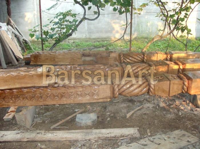 BarsanArt Stalpi lemn sculptat